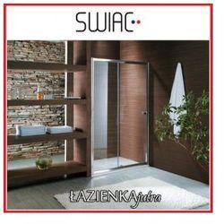 SWIAC Drzwi prysznicowe przesuwne 120x185cm, wykończenia chrom, szkło transparentne * WYSYŁKA GRATIS