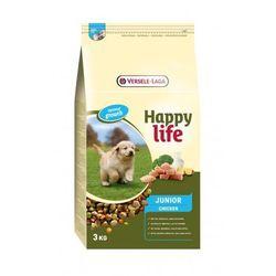 Versele Laga Happy Life JUNIOR Chicken 3kg/10kg - karma dla szczeniąt i młodych psów z drobiem i mlekiem Waga:10 kg