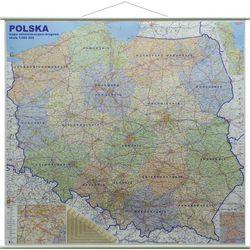 Polska mapa ścienna administracyjno-drogowa 1:500 000