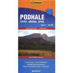 Podhale Tatry Orawa Spisz mapa 1:50 000 Compass (opr. broszurowa)