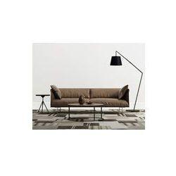 Foto naklejka samoprzylepna 100 x 100 cm - Minimalne współczesne wnętrza z brązowym skórzane kanapy