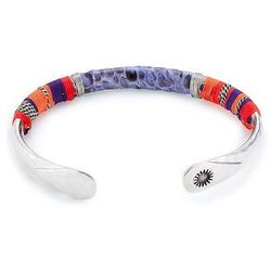 Massai Gold Plated Bangle with Python Gr. ONE SIZE