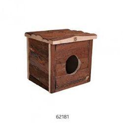 Drewniany domek dla gryzoni Jerrik Rozmiar:28 × 16 × 18 cm