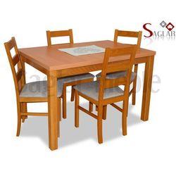 Zestaw DUNAJ II 4 krzesła i stół 80x120/150