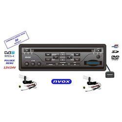 NVOX DV414UDT odtwarzacz samochodowy DVD USB SD z cyfrowym tunerem telewizyjnym DVB-T MPEG4 1 DIN 12V 24V