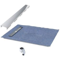 Schedpol podposadzkowa płyta prysznicowa 80x100 cm steel krótki bok 10.007OLKBSL