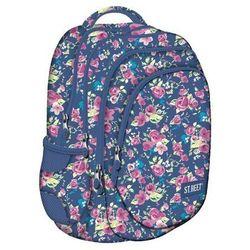 St.reet Plecak Szkolny BP-06 Kwiaty Różowe 609046