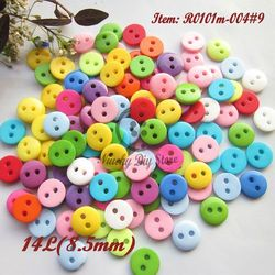 Sewing buttons 200pcs 8.5mm mixed color resin mini bread buttons for craft scrapbooking accessories sewing buttons wholesale
