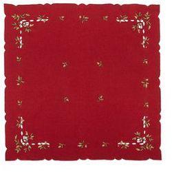 Forbyt Obrus świąteczny jemioła, czerwony, 35 x 35 cm