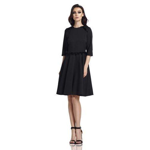 129fe2d1cf Czarna Klasyczna Rozkloszowana Sukienka z Falbankami - porównaj ...