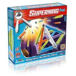 Supermag Maxi Neon, klocki magnetyczne, 44 elementy Darmowa dostawa do sklepów SMYK