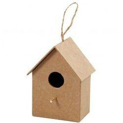 Domek dla ptaków z papieru mache duży - wzór III