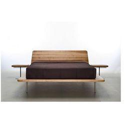 Designerskie łóżko do hotelu z naturalnego litego drewna Letto od Mazzivo