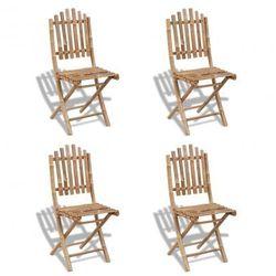 4 składane krzesła bambusowe Zapisz się do naszego Newslettera i odbierz voucher 20 PLN na zakupy w VidaXL!