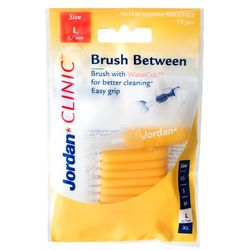 Jordan Brush Between, szczoteczki do czyszczenia przestrzeni międzyzębowych, L, 10 szt.