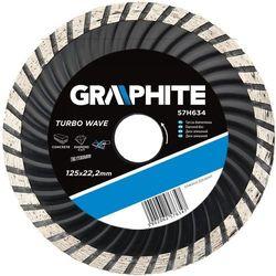 Tarcza do cięcia GRAPHITE 57H632 125 x 1.5 x 22.2 mm diamentowa turbo wave