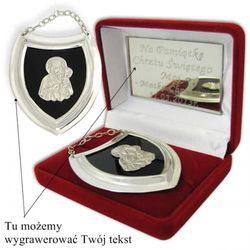 Srebrny ryngraf z Matką Boską w onyksie z opcją grawerowania