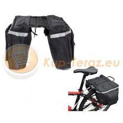 Sakwa torba rowerowa na bagażnik Czterokomorowa