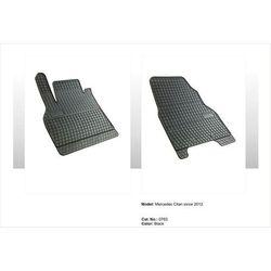 Dywaniki gumowe czarne z kompletem stoperów - Renault Kangoo (II) od 2008, 2 siedzenia