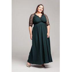 572884c8b3 suknie sukienki dluga szara suknia z czarna koronka klasyczna prosta ...