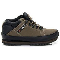 SKÓRZANE Męskie wygodne buty Trekkingowe - odcienie brązu i beżu