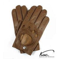Skórzane rękawiczki samochodowe Kuc - koniakowe