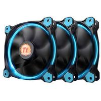 Thermaltake riing 12 led blue 3 pack (3x120mm, lnc, 1500 rpm) retail/box