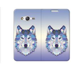 Flex Book Fantastic - Samsung Galaxy Trend 2 Lite - pokrowiec na telefon - wilk
