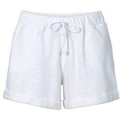 Krótkie spodenki dresowe bonprix biały