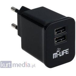 Ładowarka M-Life Dual USB 2A ML0422 Darmowy odbiór w 19 miastach!