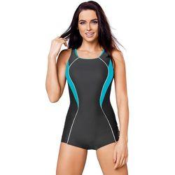 d2fbe842290181 Jednoczęściowy strój kąpielowy Strój jednoczęściowy Model Isabel III Grafit/ Turkus - GWINNER
