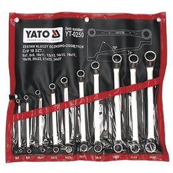 Zestaw kluczy oczkowych YATO YT-0250 6 - 27 mm odgięte (10 elementów)