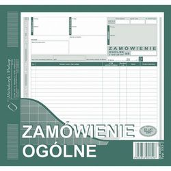 Zamówienie ogólne Michalczyk&Prokop 333-2 - 2/3 A4 (oryginał+kopia)