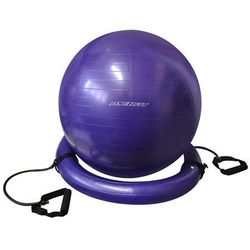 Piłka gimnastyczna AXER FIT z uchwytami i obręczą Fioletowy (65 cm)
