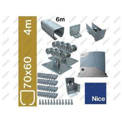 Zestaw do bram przesuwnych NICE 70x60mm, Zn