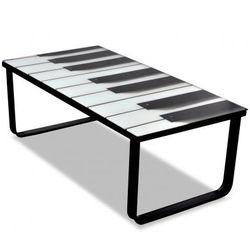 Szklany stolik kawowy z nadrukiem pianina Zapisz się do naszego Newslettera i odbierz voucher 20 PLN na zakupy w VidaXL!