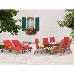 Stół rozkładany + 6 krzeseł + 2 leżanki + stolik + terracotta poduchy - TOSCANA