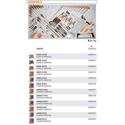WÓZEK NARZĘDZIOWY 2400/C24SL Z ZESTAWEM NARZĘDZI, 132 ELEMENTY, MODEL 2400SLR/VG3, CZERWONY