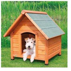 Naturalna buda dla psa ze spadzistym dachem