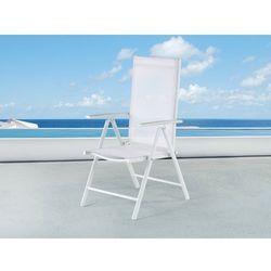 Krzeslo ogrodowe biale – meble ogrodowe – aluminium - CATANIA