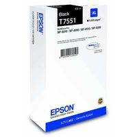 Epson oryginalny ink C13T755140, T7551, XL, black, 5000s, 100ml, 1szt, Epson WorkForce Pro WF-8590DWF