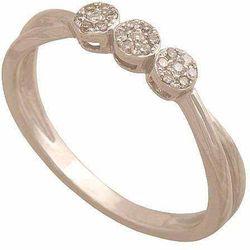Pierścionek z białego złota z brylantami 30882