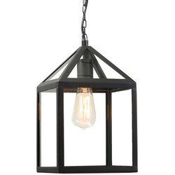 Zewnętrzna lampa Amsterdam wisząca czarna