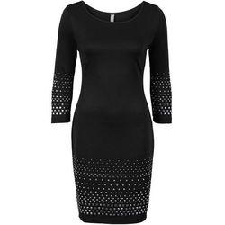 Sukienka z ćwiekami bonprix czarny