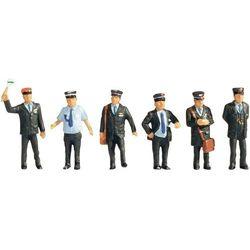 Figurki urzędników kolejowych w Szwajcarii, NOCH, skala H0, 6 szt., pomalowane