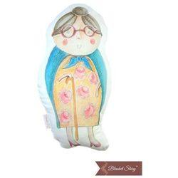 BLANKET STORY Poduszka - Babcia Kapturka, biała 30 x 60 cm