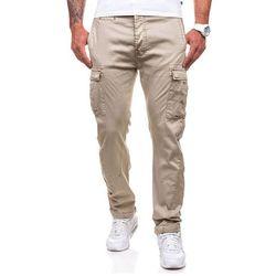 Beżowe spodnie bojówki męskie Denley 8380 - BEŻOWY Spodnie 59.99 (-14%)