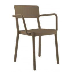 Krzesło z podłokietnikami do jadalni, kuchni , salonu Resol Lisboa brązowe