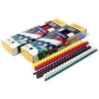 Grzbiety do bindowania plastikowe, żółte, 28,5 mm, 50 sztuk, oprawa do 270 kartek