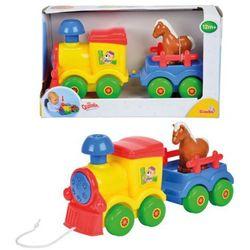 ABC Pociąg z przyczepką i konikiem